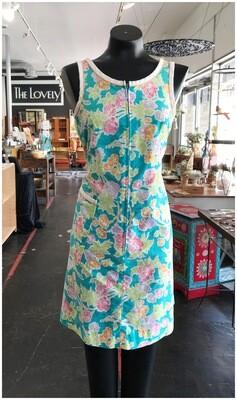 Vintage 1970's Lamar Front Zip House Dress