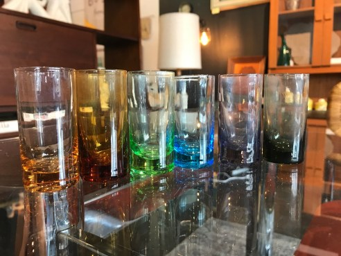 Jewel Tone Shot Glasses