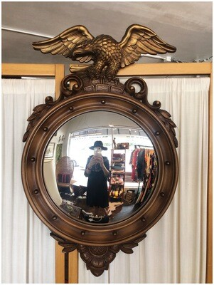 Vintage 1960's Syroco Federal Eagle Convex Wall Mirror