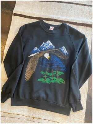 Vintage Eagle Flying Sweatshirt