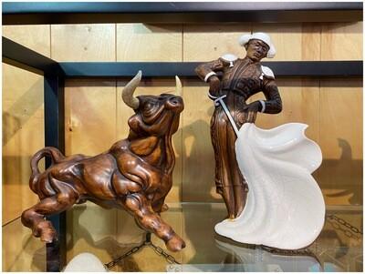 Vintage Matador & Bull Figurines