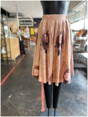 Vintage Rose Floral Skirt