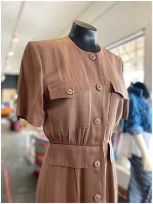 Vintage Button Down Day Dress