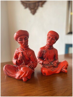 Vintage Pair of Asian Bookends