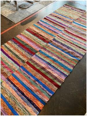 Vintage Handmade Rag Rug