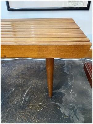 Mid Century Walnut Slat Bench