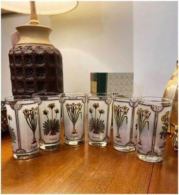 Vintage Boho Floral Highball Glasses