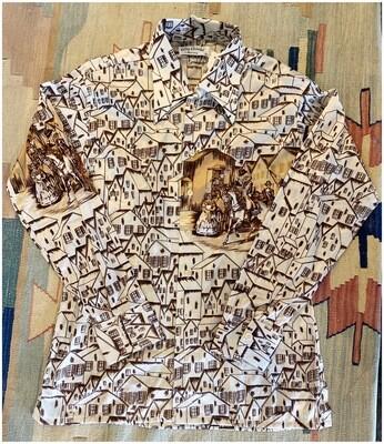 Men's Vintage 1970's Oleg Cassini George Washington Shirt