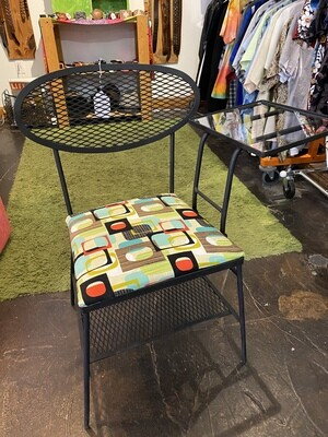 1950's Wrought Iron Gossip Chair