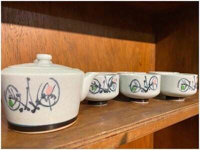 Vintage 7 Piece Japanese Tea Set