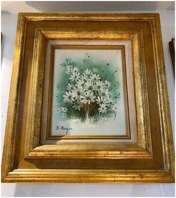 Vintage Original Oil Daisy Painting