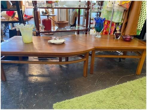 Mid Century Cal Mode Coffee Table Set