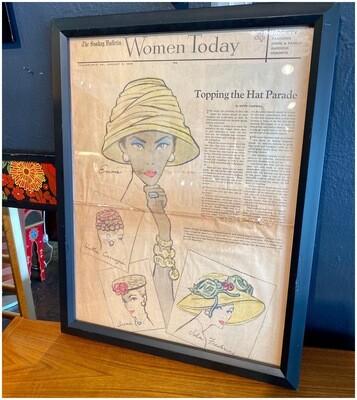Framed Hat Parade, Women Today, Jan 8, 1956