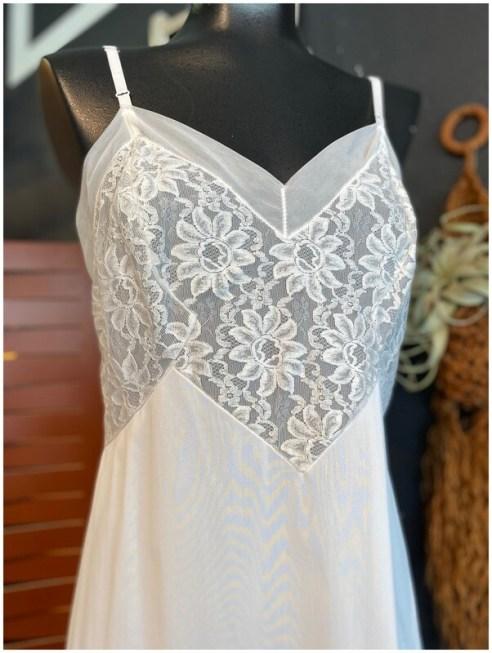 Vintage White Lace Slip