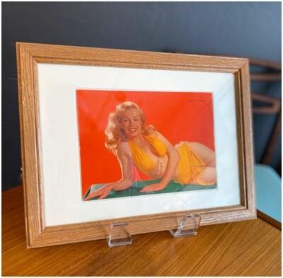 Vintage Framed Marilyn Monroe Large Postcard