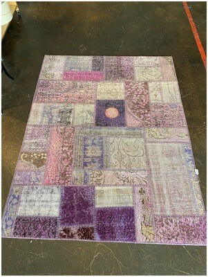 Handmade Vintage Patched Work Rug