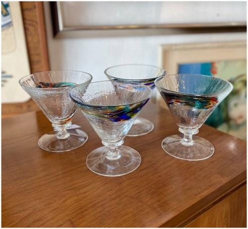 Vintage Martini Glasses