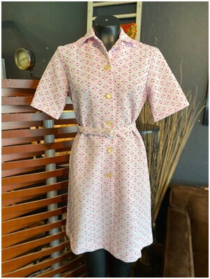 Vintage 1960's Carr & Westley Belted Dress