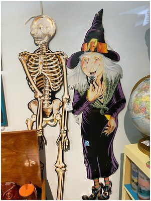 Vintage 1980's Scary Witch Halloween Decor