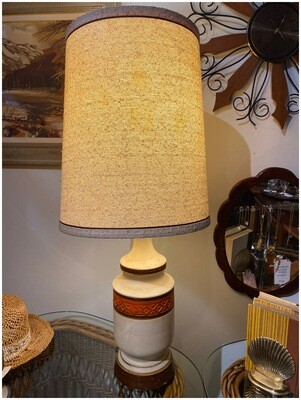 Vintage Mid Century Lamp with Original Shade