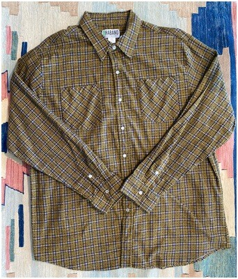 Men's Vintage Haband Shirt with Pearl Snaps