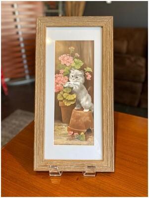 Vintage Cat Framed Print
