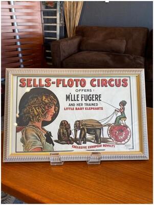Vintage Sells-Floto Circus M'lle Fugere