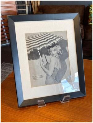 Vintage Marilyn Monroe Framed Magazine Page