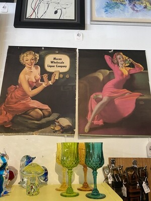 Vintage Macon Wholesale Liquor Company Advertisement Poster
