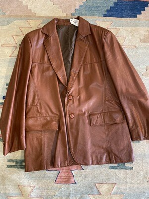 1970's Sears Brown Leather Jacket
