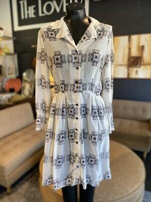 Vintage 1960's Jane Evans Sheer Print Dress