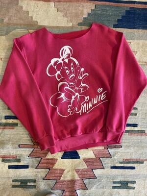 Vintage Minnie Red Sweatshirt