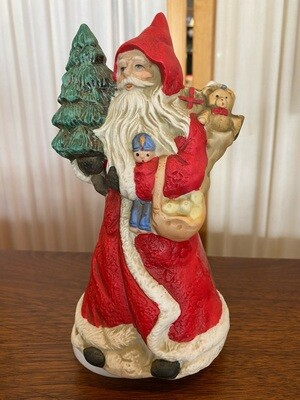 Vintage Santa Musical Ceramic Figurine