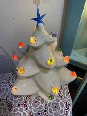 Vintage Rare Marble Light Christmas Tree