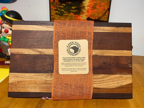Locally Handmade Reclaimed Hardwood Cutting Board