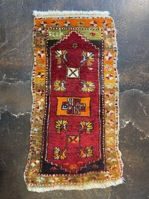 Vintage Handmade Rug From Turkey Villages