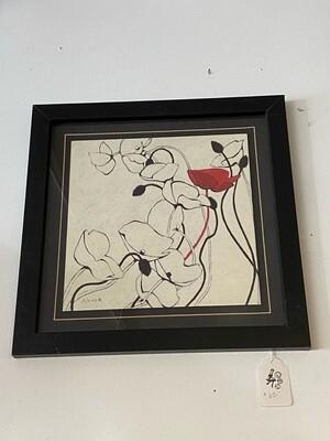 Framed Novak Poppies Print