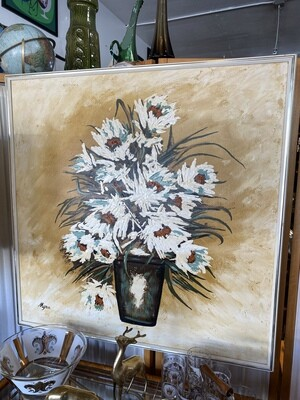Mid Century Modern Floral Painting