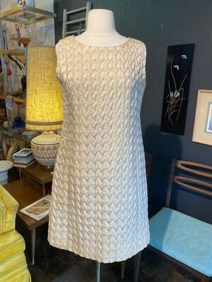 Vintage 1960's Handmade Brocade Dress with Pockets