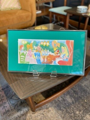Framed & Matted Alice in Wonderland Tea Party Wall Art