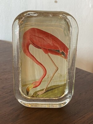 Vintage Flamingo Paper Weight