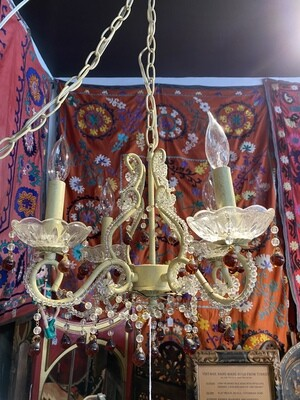 Vintage Chandelier Swag Lamp