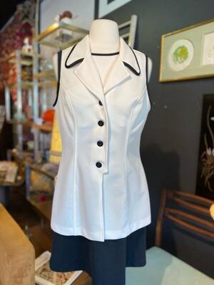 Vintage 1970's D'Knits Mini/Micro Dress with Vest