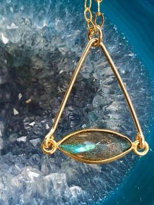 Labradorite 14kt Gold Filled Necklace