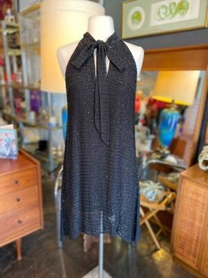 Modern Marciano Black Beaded Cocktail Dress