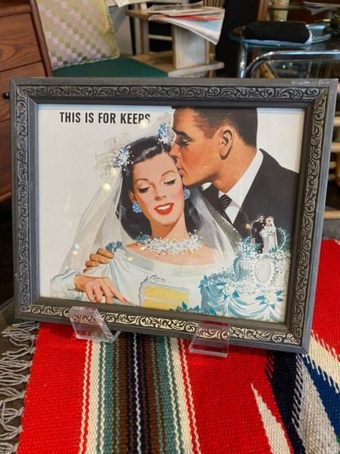 """Vintage 1946 """"This is for Keeps"""" Framed Ad"""