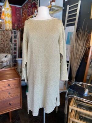 Vintage Anthropologie Ballinger Gold Sweater Dress