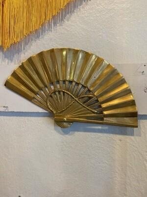 Vintage Brass Fan Wall Decor
