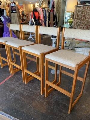 Vintage Teak Barstools