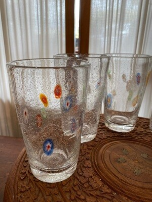 Vintage Millefiori Glass Set